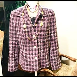 Sigrid Olsen Silk Tweed Jacket